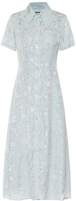 ALEXACHUNG Anna floral-jacquard dress