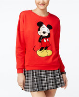Freeze 24-7 Disney Juniors' Mickey Mouse Patch Graphic Sweatshirt