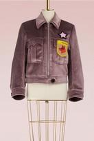 Miu Miu Velvet jacket with patches