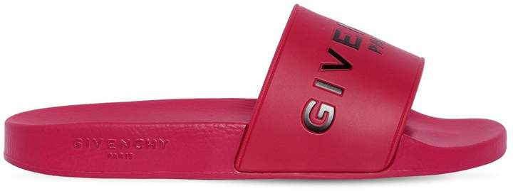 Givenchy Embossed Logo Rubber Slide Sandals