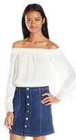 Love love, FiRE Women's White Bell Sleeve Off The Shoulder Top