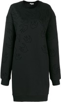 McQ Swallow print sweater dress