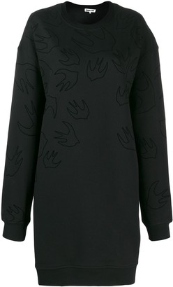 McQ Swallow print sweater dress