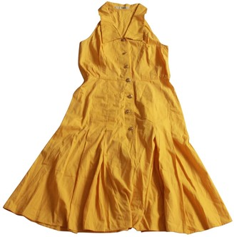 Christian Dior Yellow Cotton Dresses