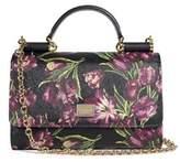 Dolce & Gabbana Women's Black Floral Mini Von Wallet Shoulder Bag.