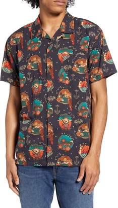 Hurley Trop Flash Short Sleeve Button-Up Camp Shirt