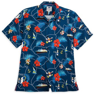 Disney Captain Mickey Mouse and Crew Silk Shirt for Men by Tommy Bahama Cruise Line