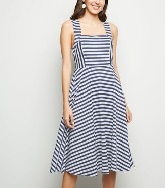 New Look Mela Stripe Square Neck Midi Dress