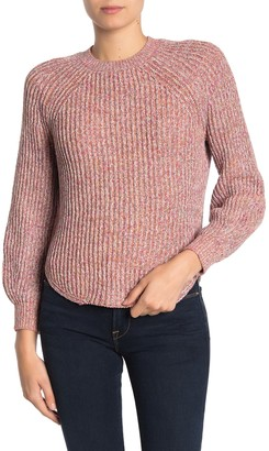 Frame Marled Knit Crew Neck Sweater