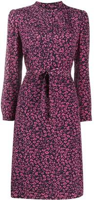 A.P.C. floral-print A-line dress