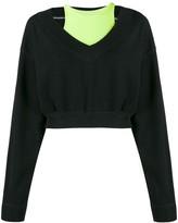 Alexander Wang bi-layer V-neck sweatshirt