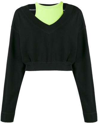 Alexander Wang bi-layer V-neck sweatshirt
