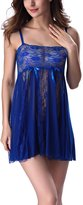 YMING Womens Sexy Lace Stiching Babydoll With G-string XL