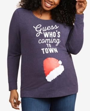 Motherhood Maternity Plus Size Guess Who's Coming To Town Christmas Maternity T-Shirt