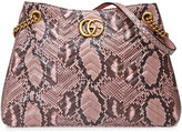 Gucci GG Marmont matelassé python shoulder bag - women - Leather/Microfibre - One Size