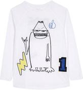 Stella McCartney Max monster print cotton t-shirt 4-14 years