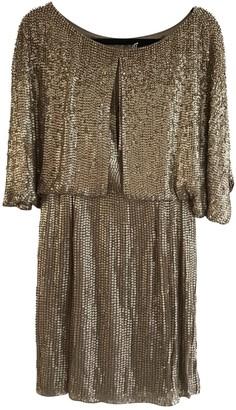 Jenny Packham Gold Silk Dress for Women