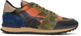 Valentino Green & Orange Camo Rockrunner Sneakers