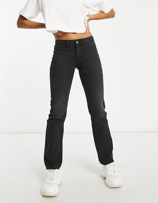 JDY straight leg jean in grey