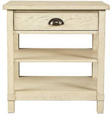 Stone & Leigh Single Drawer Nightstand, Whitewash