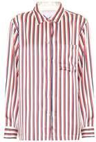Asceno Striped silk pyjama top