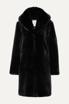FAZ NOT FUR Dark Knight Faux Fur Coat - Black
