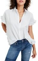 Madewell Women's Windowpane Check Ruffle Shirt