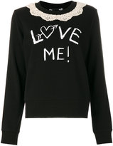 Love Moschino Love Me collared jumper