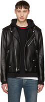Coach 1941 Black Leather Moto Jacket
