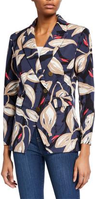 Nic+Zoe Plus Size Budding Print Blazer Jacket