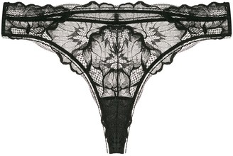 Calvin Klein Underwear semi-sheer lace thong