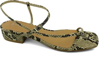 Bamboo Women's Sandals BEIGESNAKE - Beige Snake Thin-Strap Square-Toe Sandal - Women