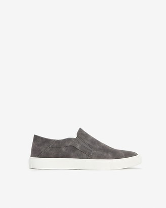 Express Faux Suede Collapsible Heel Slip-On Sneakers