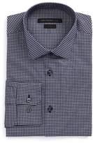 John Varvatos Men's Slim Fit Stretch Check Dress Shirt