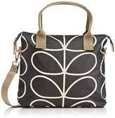 Orla Kiely Womens Linear Stem Print Zip Messenger Shoulder Bag Liqourice