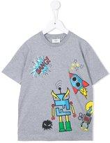 Fendi robot print T-shirt - kids - Cotton - 8 yrs