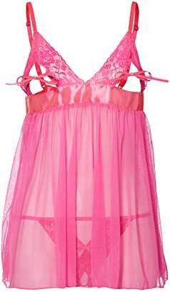 Dreamgirl Women's Babydoll & Panty Baby Doll,One (Size:)