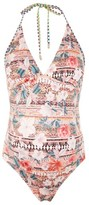 Topshop Women's Geo Floral Maternity One-Piece Swimsuit