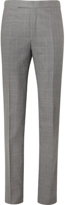 Richard James Checked Wool Suit Trousers