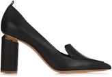 Nicholas Kirkwood Beya grained-leather block-heel pumps