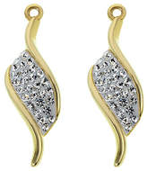 Evoke 9ct Gold Plated Silver Crystal Twist Drop Earrings