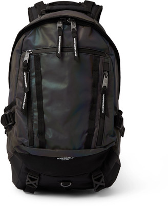 Indispensable Trill Iridescent Shell And Canvas Backpack