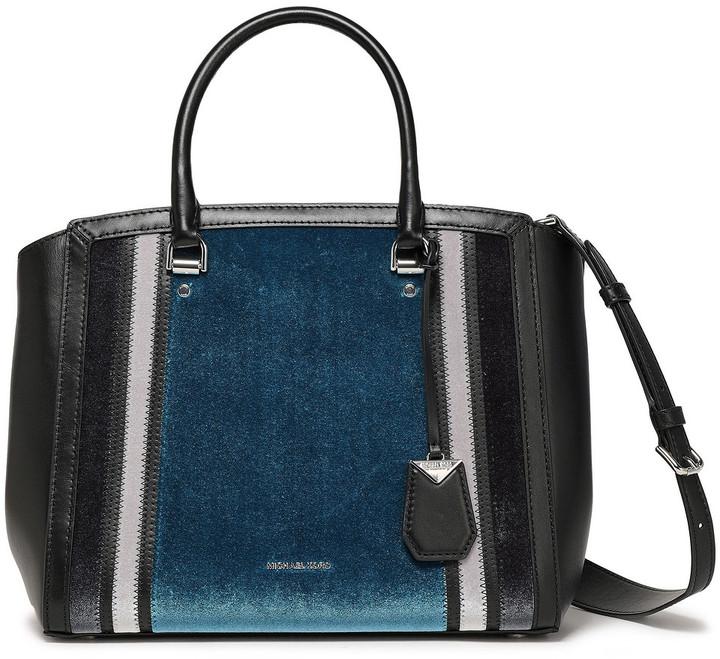 MICHAEL Michael Kors Velvet And Leather Shoulder Bag