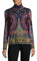 Etro Wool Paisley-Print Top