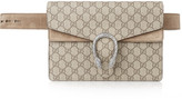 Gucci Dionysus Suede-trimmed Coated-canvas Belt Bag - Neutral