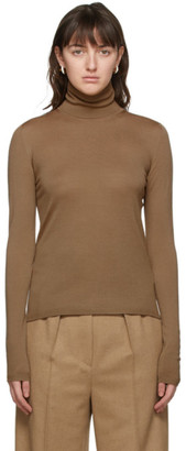 Max Mara Brown Wool Saluto Turtleneck