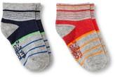 Circo Toddler Boys' Stripe Low Cut Sock 2 pk Red 2T-3T
