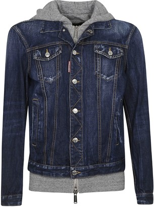 DSQUARED2 Denim Buttoned Hoodie