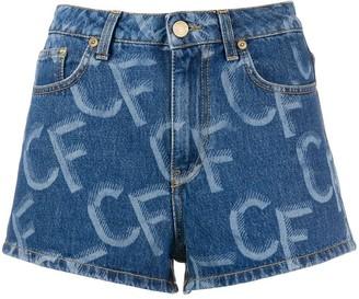 Chiara Ferragni Denim Logo Print Shorts