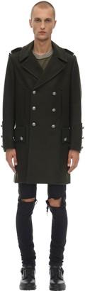 Faith Connexion Long Double Breast Wool & Cashmere Coat